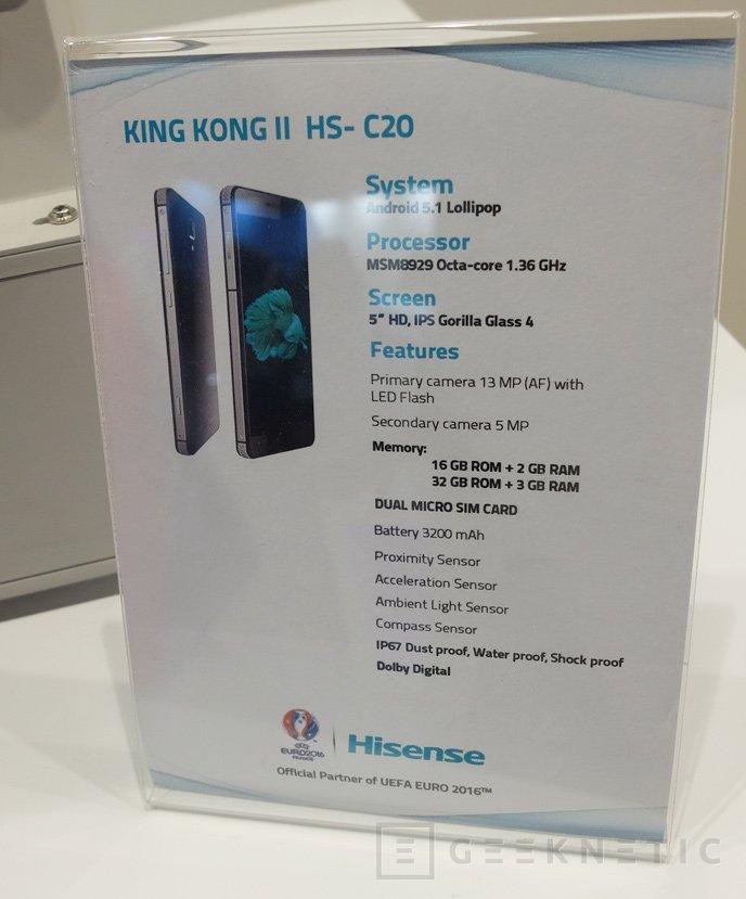 Hisense King Kong II C20, un móvil resistente a golpes y al agua con precio económico, Imagen 1