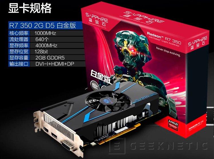 AMD lanza por sorpresa la Radeon R7 350, la más modesta de la serie 300, Imagen 1