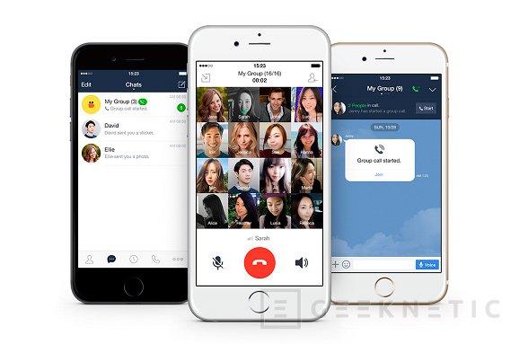 LINE implementa las llamadas de grupo de hasta 200 personas, Imagen 1
