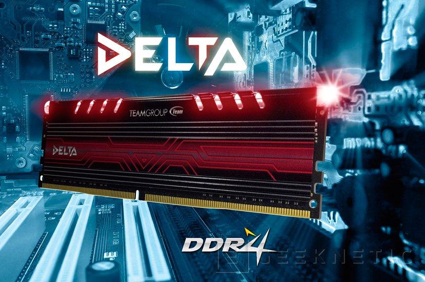 La nueva serie Delta de memorias DDR4 de Team Group incluye iluminación LED en los disipadores, Imagen 1