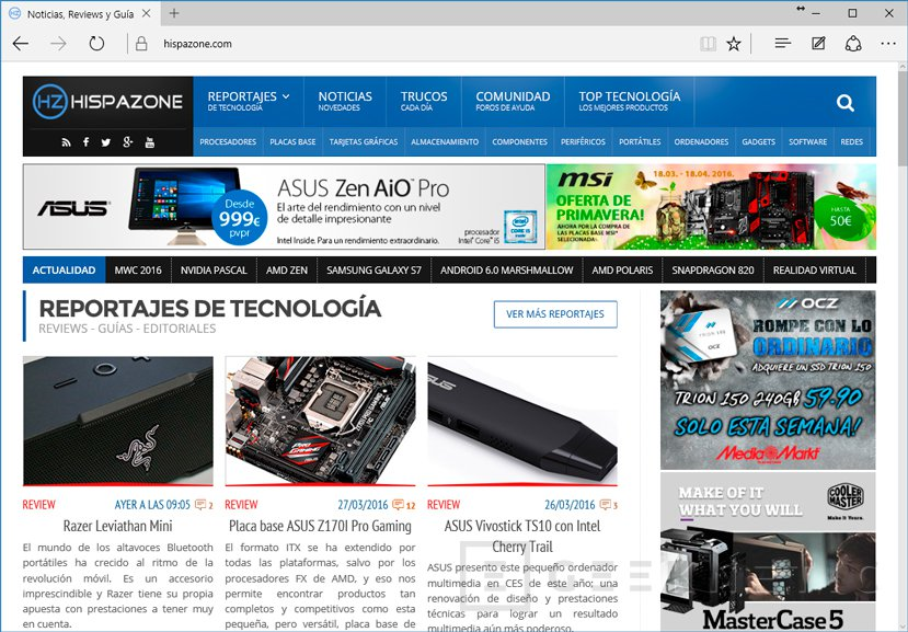 El navegador Edge de Microsoft tendrá un bloqueador de anuncios integrado, Imagen 1