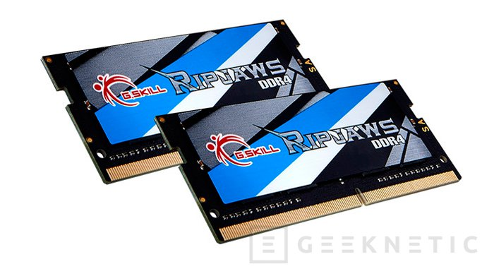 Nuevos módulos G.Skill Ripjaws DDR4-3000MHz para portátiles , Imagen 1