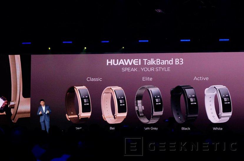 Huawei desvela la TalkBand B3, una pulsera inteligente que se convierte en auricular bluetooth, Imagen 1