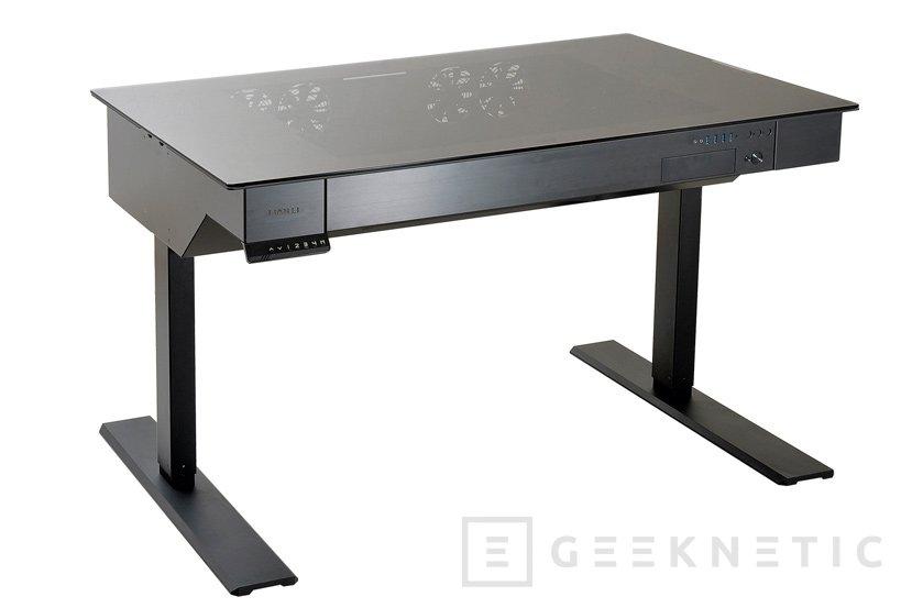 Nueva torre-mesa motorizada Lian Li DK-04, Imagen 1