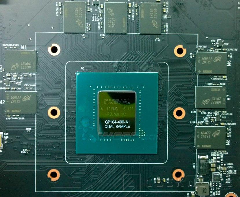 Filtrada la primera imagen de la GPU NVIDIA GP104 con chips GDDR5X, Imagen 1