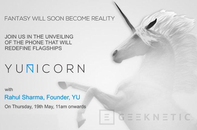 El nuevo smartphone Yu Yunicorn llegará con 4 GB de memoria RAM el 19 de mayo, Imagen 2