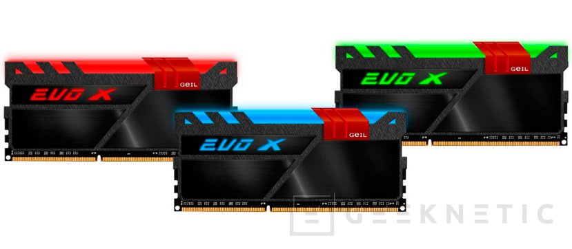 GeIL anuncia las memorias EVO-X con retroiluminación RGB HILM independiente, Imagen 1
