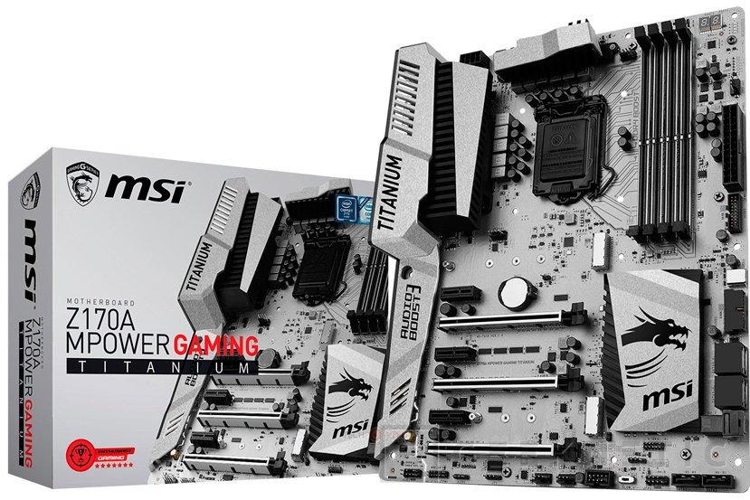 MSI anuncia la placa Z170A MPower Gaming Titanium con acabado metalizado, Imagen 1