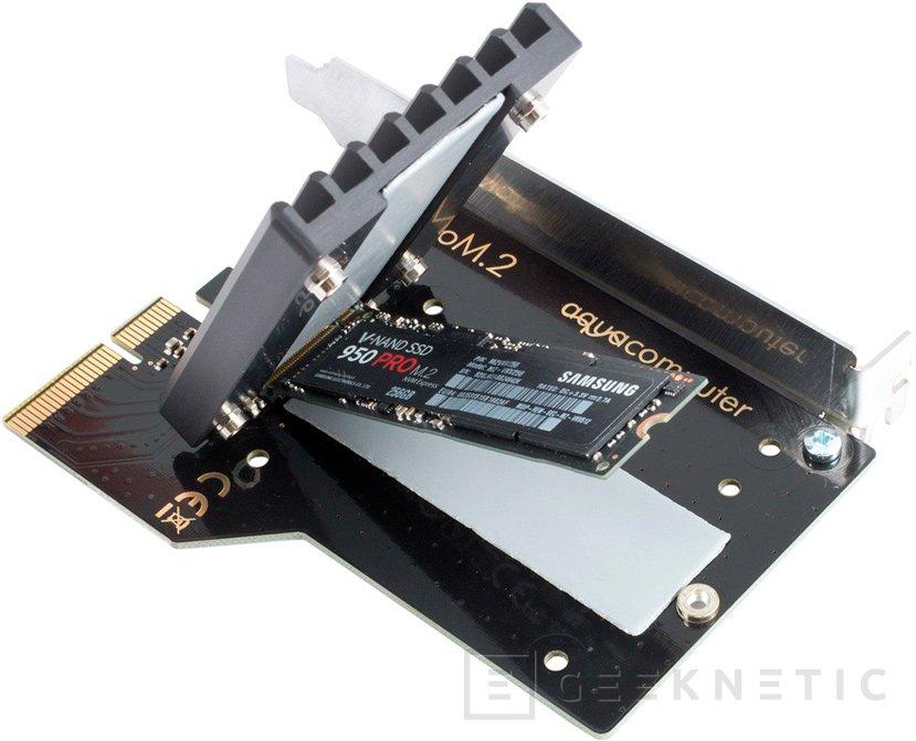 Aqua Computer lanza el adaptador M.2 para PCIe KrioM.2 con su propio disipador y bloque de RL, Imagen 1
