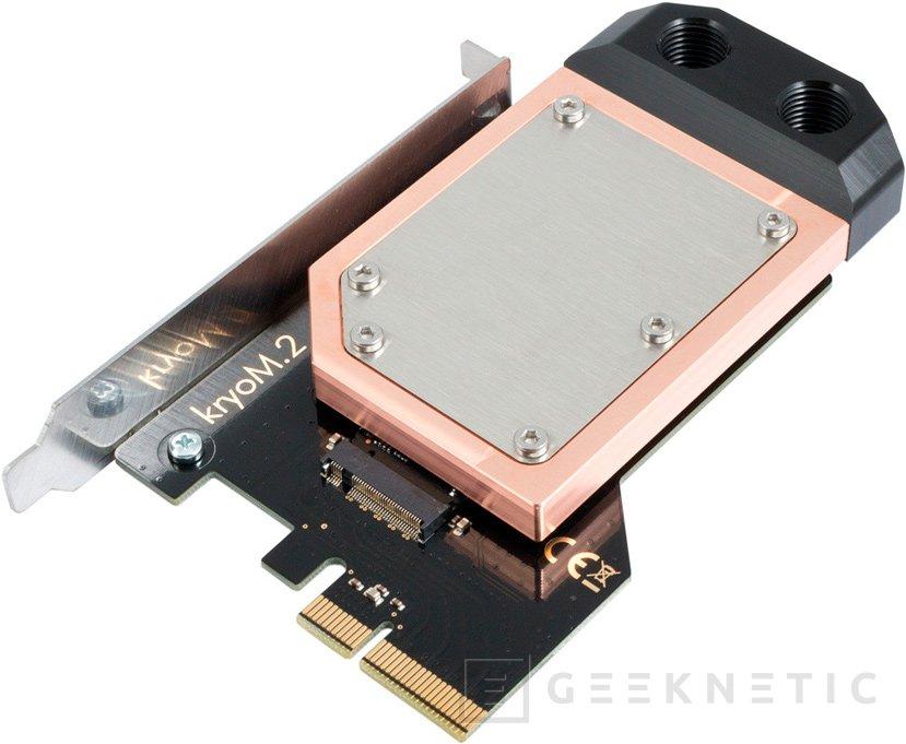 Aqua Computer lanza el adaptador M.2 para PCIe KrioM.2 con su propio disipador y bloque de RL, Imagen 2