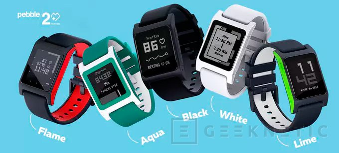 Llegan los nuevos smarwatches Pebble 2 y Pebble Time 2 con sensor de pulso, Imagen 1