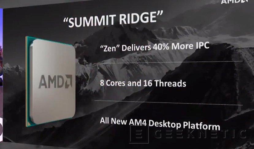 AMD deja ver un procesador Summit Ridge con arquitectura ZEN, Imagen 2