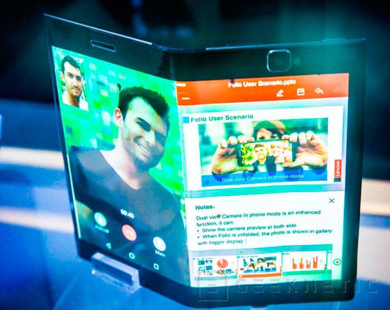 Lenovo muestra un tablet y un smartphone con pantalla flexible, Imagen 2