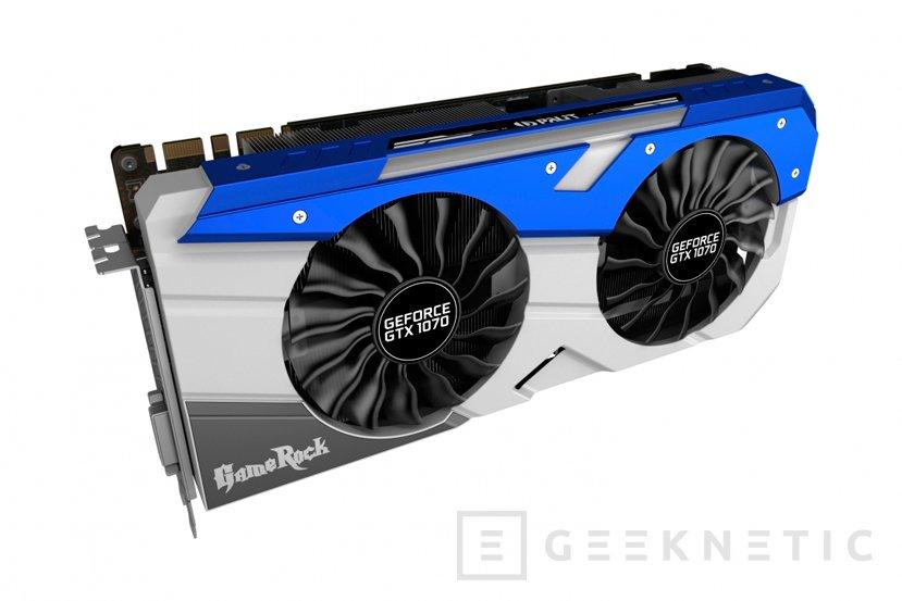Palit anuncia sus GTX 1070 GameRock y JetStream, Imagen 1