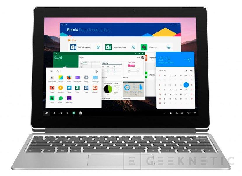 Remix Pro, un nuevo tablet convertible de 12 pulgadas con Remix OS, Imagen 1