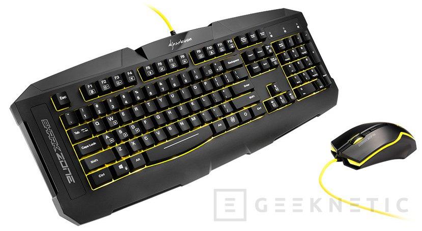 Nuevo kit de teclado y ratón gaming Sharkoon SharkZone GK15, Imagen 1