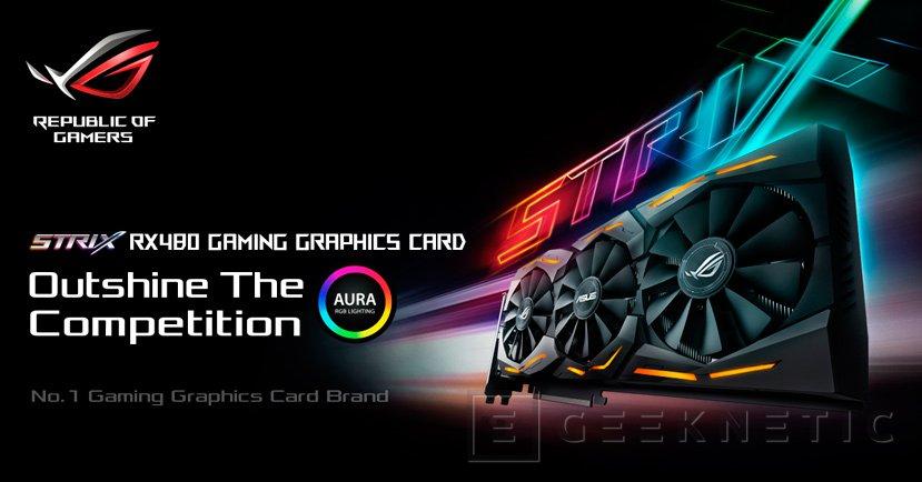 ASUS anuncia su nueva gráfica ROG STRIX RX 480 con DirectCU III, Imagen 1