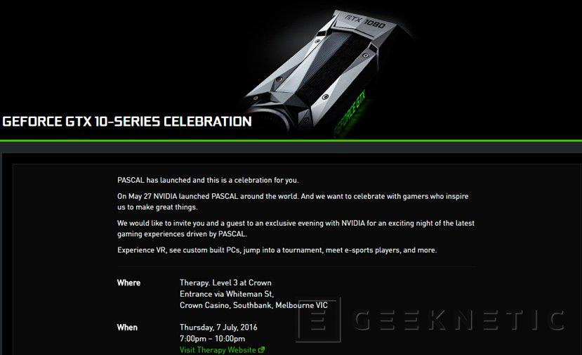 Nvidia anuncia un evento para el 7 de julio ¿GTX 1060 a la vista?, Imagen 1