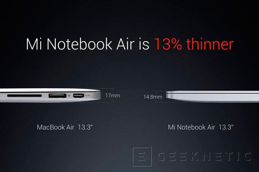 Xiaomi anuncia sus portátiles Mi Notebook Air de 13,3 y 12,5 pulgadas, Imagen 3