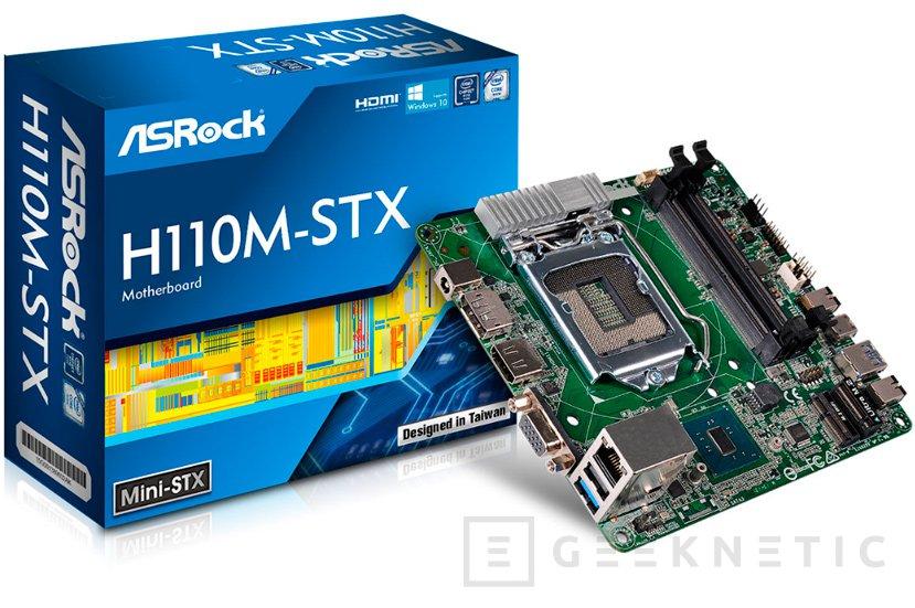 La primera placa base mini-STX con chipset H110 es de ASRock, Imagen 1