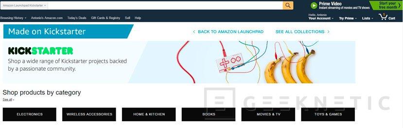 Amazon venderá productos de Kickstarter, Imagen 1