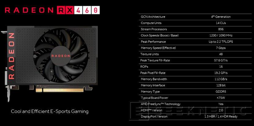 Ya disponibles las Radeon RX 460 de AMD, Imagen 1