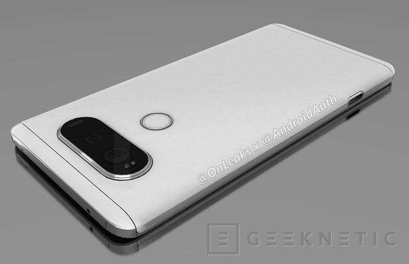 Los primeros renders del LG V20 dejan ver un posible diseño modular y doble cámara, Imagen 1