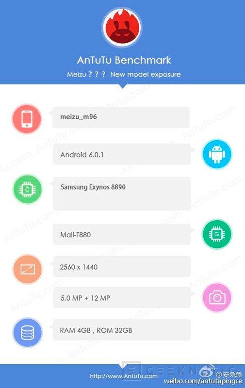Meizu trabaja en un smartphone con el Exynos 8890 de Samsung, Imagen 1