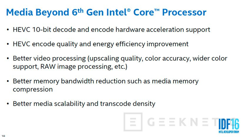 Intel Kaby Lake soportará HDR y HEVC por hardware, Imagen 1