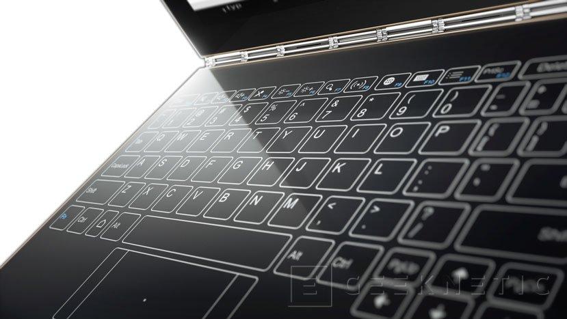 Lenovo se decanta por un teclado táctil en su nuevo convertible Yoga Book, Imagen 2