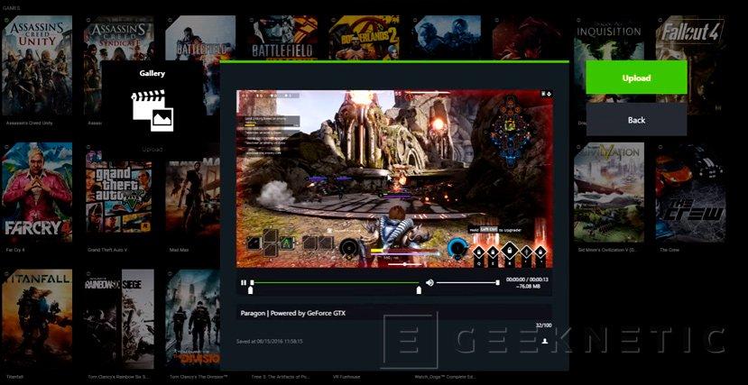 Llega GeForce Experience 3.0 con grabación 4K a 60 FPS y menor consumo de memoria, Imagen 1