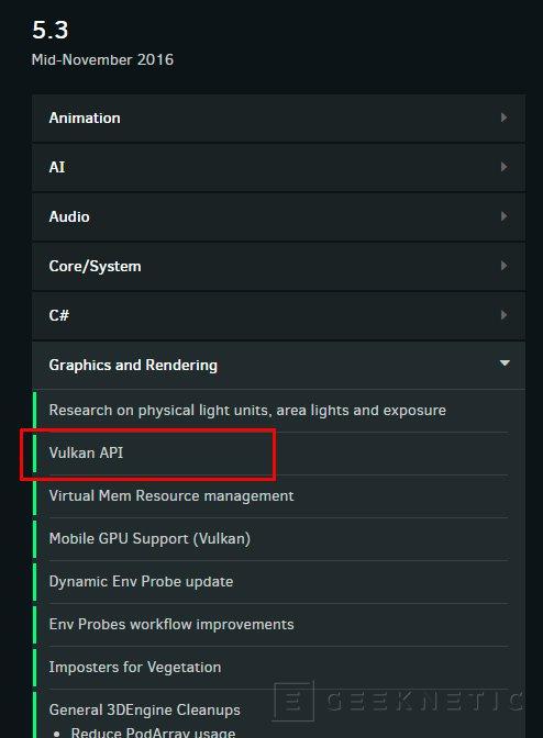 Vulkan llegará al motor gráfico CryEngine en noviembre, Imagen 1