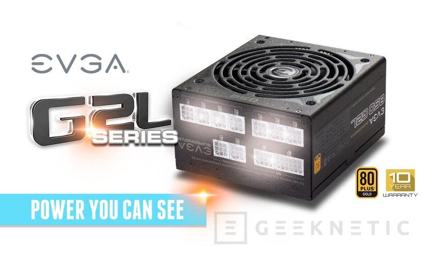 Nuevas fuentes SuperNOVA G2L de EVGA con LEDs en los conectores, Imagen 1