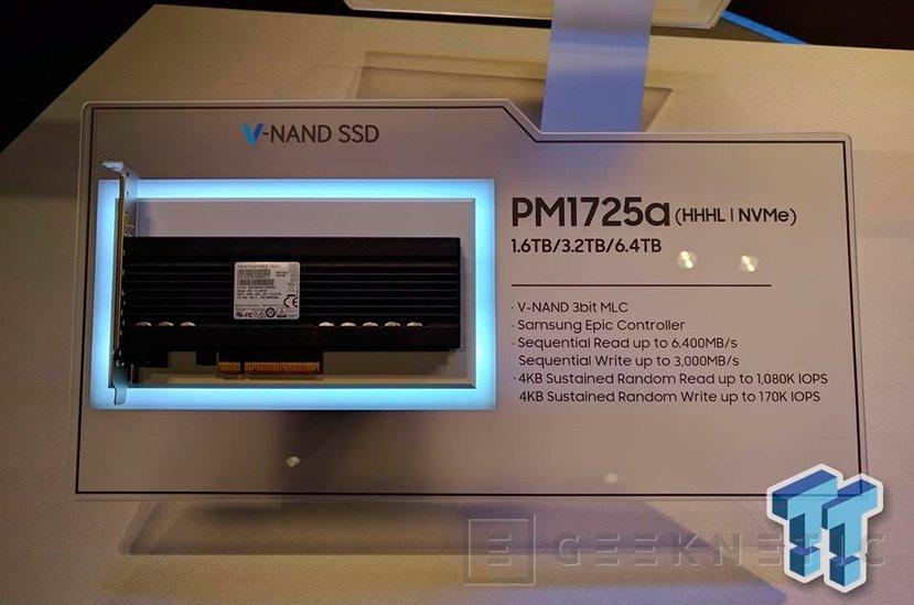 Samsung PM1725a, un SSD que alcanza los 6.400 MB/s, Imagen 1