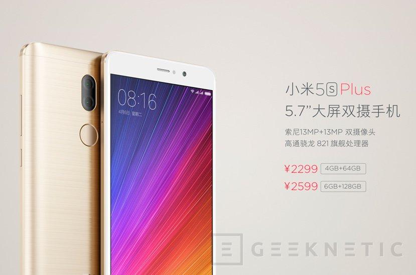 Llega el Xiaomi Mi 5s y Mi 5s Plus con Snapdragon 821 y hasta 6 GB de RAM, Imagen 3