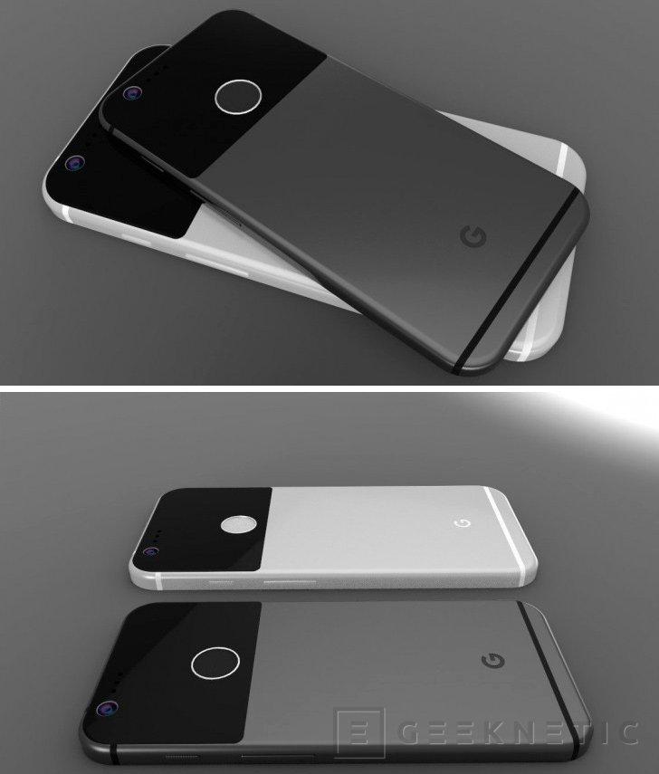 Primeros renders del smartphone Google Pixel filtrados, Imagen 1