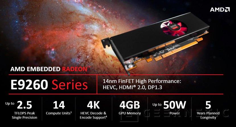 AMD anuncia sus GPU E9260 y E9550 para sistemas integrados, Imagen 1