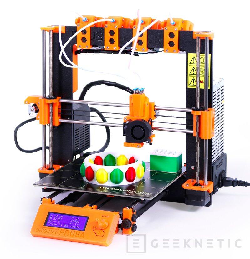 Prusa anuncia un sistema para imprimir con 4 materiales a la vez en impresoras 3D, Imagen 1