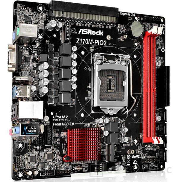 La ASRock Z170M-PIO2 incluye un PCI Express x16 en la parte superior, Imagen 1