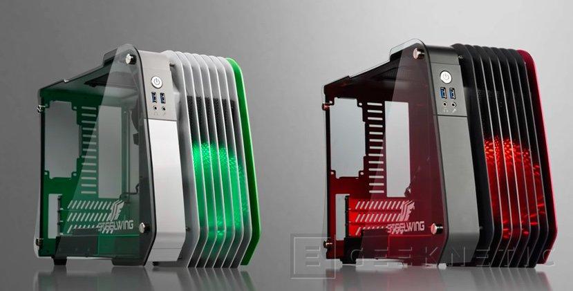Enermax lanza su llamativa torre SteelWing para placas microATX, Imagen 1