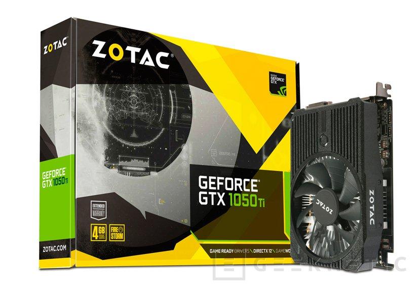 ZOTAC anuncia sus NVIDIA GeForce GTX 1050 y GTX 1050 Ti con disipador personalizado, Imagen 1