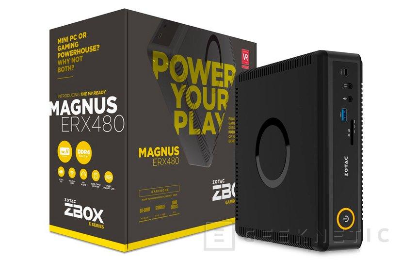 ZOTAC integra una Radeon RX 480 en su mini PC ZBOX Magnus ERX480, Imagen 1
