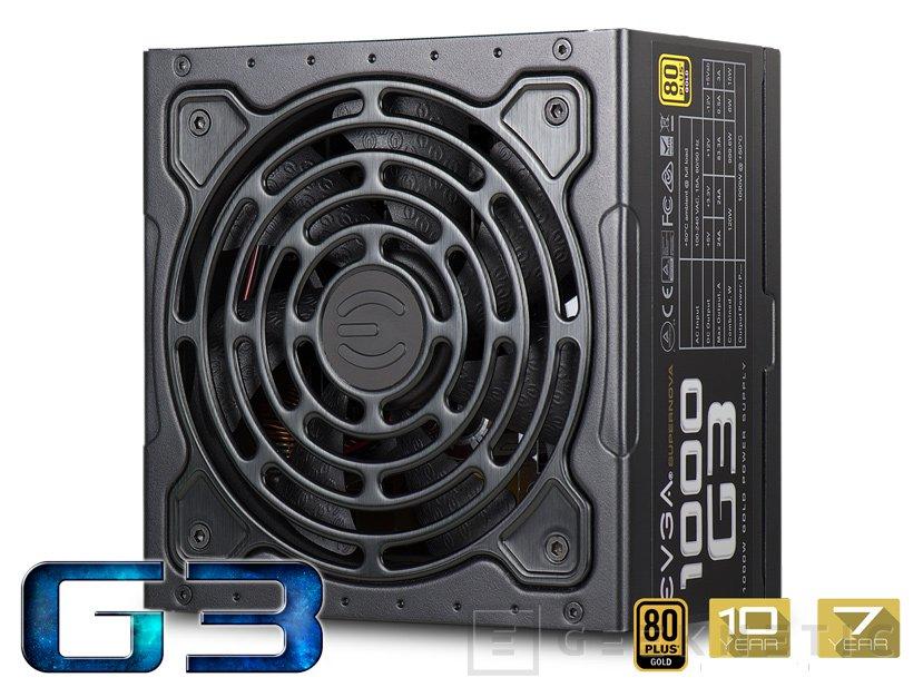Fuentes de alimentación EVGA SuperNOVA G3 con eficiencia 80 PLUS Gold, Imagen 1
