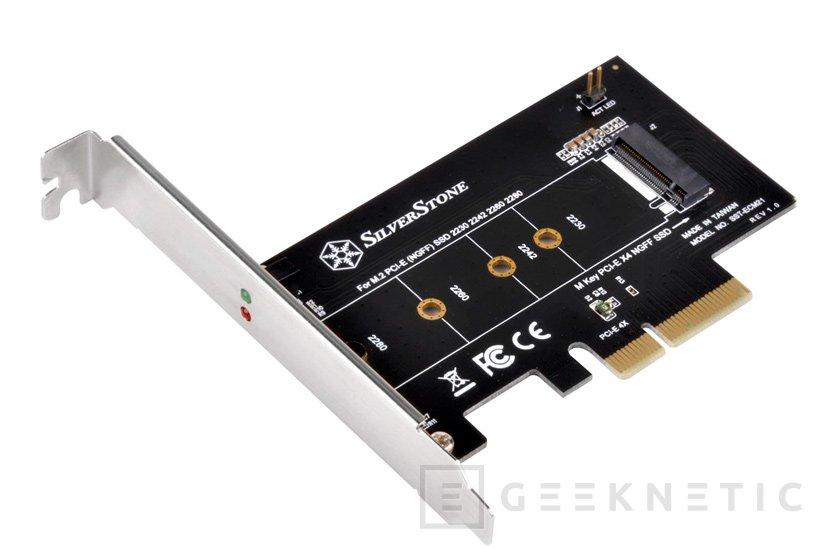 Si todavía no tienes puerto M.2 en tu PC, SilverStone ha lanzado este conversor PCIe x4 a M.2, Imagen 1