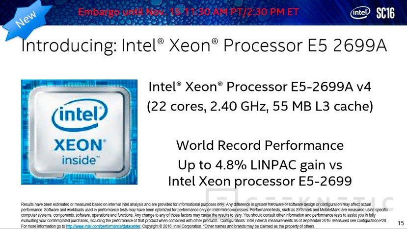 Xeon E5-2699A, el procesador de 22 núcleos de Intel es ahora más rápido, Imagen 1