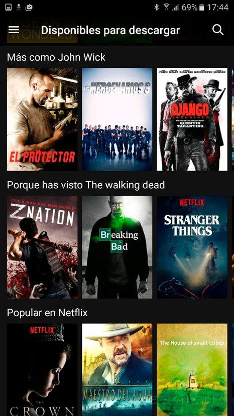 Netflix ya permite descargar películas y series para verlas offline, Imagen 1