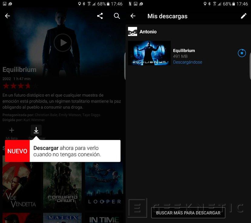 La app de Netflix ya permite descargar contenidos a la tarjeta SD, Imagen 1