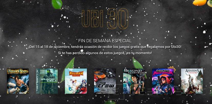 Ubisoft regala todos los juegos de su promoción 30º aniversario este fin de semana, Imagen 1