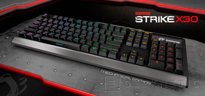 El Strike X30 de Ozone es un teclado mecánico RGB por menos de 90 Euros, Imagen 1