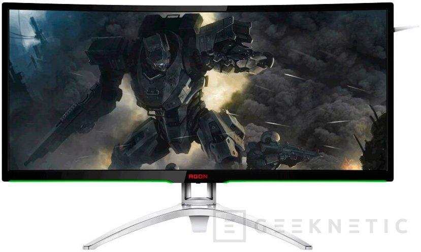 AOC AGON AG352UCG, monitor gaming curvado de 35 pulgadas con G-SYNC, Imagen 1